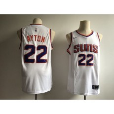 Phoenix Suns 22 Deandre Ayton White Without The Sponsor Logo Nike Swingman Men Jersey