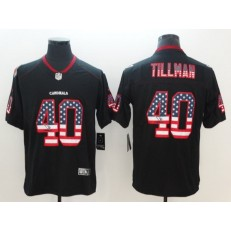 Arizona Cardinals 40 Pat Tillman Black USA Flag Fashion Color Rush Limited Nike NFL Men Jersey