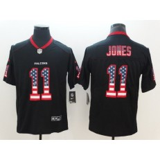 Atlanta Falcons 11 Julio Jones Black USA Flag Fashion Color Rush Limited Nike NFL Men Jersey