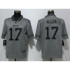 Buffalo Bills 17 Josh Allen Gray Gridiron Gray Vapor Untouchable Limited Nike NFL Men Jersey