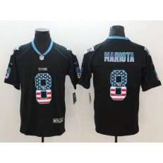Tennessee Titans 8 Marcus Mariota Black USA Flag Fashion Color Rush Limited Nike NFL Men Jersey
