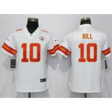 Women Nike Kansas City Chiefs 10 Tyreek Hill White Vapor Untouchable Limited NFL Jersey