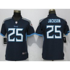 Women Nike Tennessee Titans 25 Adoree' Jackson Navy 2018 Vapor Untouchable Limited Jersey