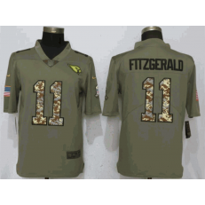 Arizona Cardinals 11 Larry Fitzgerald Olive Camo Salute To Service Limited Nike NFL Men Jersey