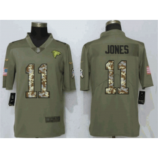 Atlanta Falcons 11 Julio Jones Olive Camo Salute To Service Limited Nike NFL Men Jersey