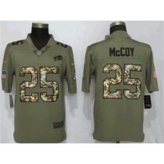 Buffalo Bills 25 LeSean McCoy Olive Camo Salute To Service Limited Nike NFL Men Jersey