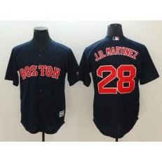 MLB Boston Red Sox 28 J.D. Martinez Navy Cool Base Men Jersey