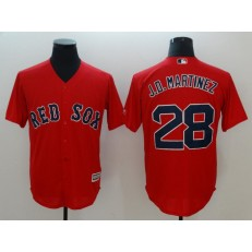 MLB Boston Red Sox 28 J.D. Martinez Red Cool Base Men Jersey