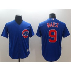 MLB Chicago Cubs 9 Javier Baez Royal Throwback Cool Base Men Jersey