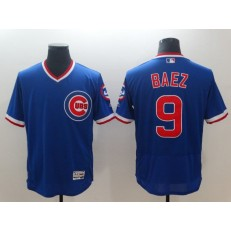 MLB Chicago Cubs 9 Javier Baez Royal Throwback Flexbase Men Jersey