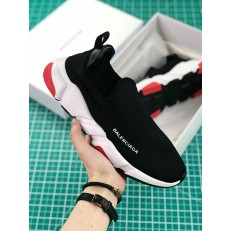 BALENCIAGA SPEED TRAINER LOW BLACK RED