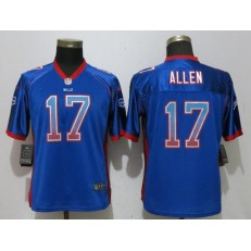 Buffalo Bills 17 Josh Allen Blue Women Drift Fashion Nike NFL Men Jersey