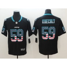 Carolina Panthers 59 Luke Kuechly Black USA Flag Fashion Limited Nike NFL Men Jersey