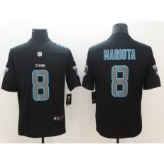 Tennessee Titans 8 Marcus Mariota Black Vapor Impact Limited Nike NFL Men Jersey