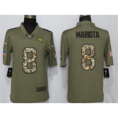 Tennessee Titans 8 Marcus Mariota Olive Camo Salute To Service Limited Nike NFL Men Jersey