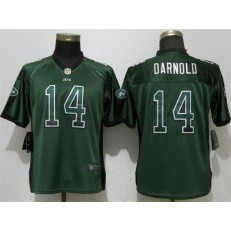 Women Nike New York Jets 14 Sam Darnold Green Drift Fashion NFL Jersey