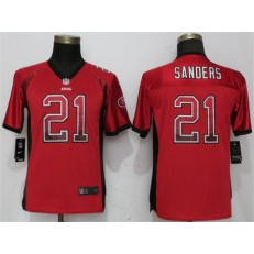 Youth Nike San Francisco 49ers 21 Deion Sanders Red Drift Fashion NFL Jersey