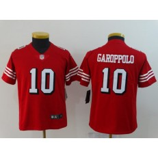 Youth Nike San Francisco 49ers 40 Jimmy Garoppolo Red 2018 Vapor Untouchable Limited NFL Jersey