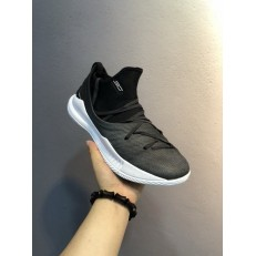 UNDER ARMOUR CURRY 5 LOW BLACK WHITE