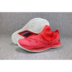 UNDER ARMOUR CURRY 5 LOW UNIVERSITY RED BLACK WHITE 3020657-603