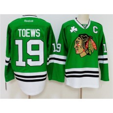 Chicago Blackhawks 19 Jonathan Toews Green Reebok NHL Men Jersey
