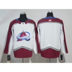 Colorado Avalanche Blank White Adidas NHL Men Jersey