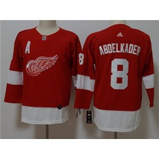Detroit Red Wings 8 Justin Abdelkader Red Women Adidas Jersey