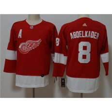 Detroit Red Wings 8 Justin Abdelkader Red Youth Adidas Jersey