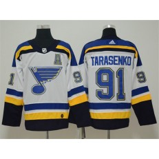 St.Louis Blues 91 Vladimir Tarasenko White Adidas NHL Men Jersey