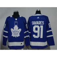 Toronto Maple Leafs 91 John Tavares Blue Adidas NHL Men Jersey