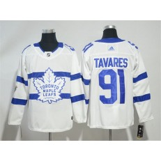 Toronto Maple Leafs 91 John Tavares White 2018 NHL Stadium Series Adidas Men Jersey
