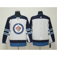 Winnipeg Jets Blank White Adidas NHL Men Jersey