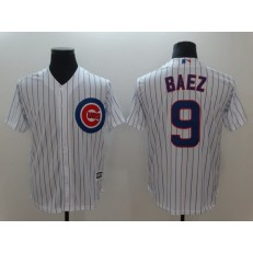 MLB Chicago Cubs 9 Javiers Baez White Cool Base Men Jersey