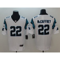 Carolina Panthers #22 Christian McCaffrey White Vapor Untouchable Player Limited Nike NFL Men Jersey