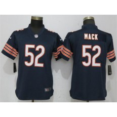 Women Nike Chicago Bears #52 Khalil Mack Navy Vapor Untouchable Limited NFL Jersey