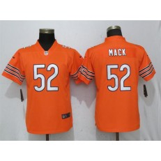 Women Nike Chicago Bears #52 Khalil Mack Orange Vapor Untouchable Limited NFL Jersey