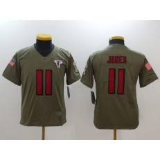 Youth Nike Atlanta Falcons #11 Julio Jones Olive Salute To Service Limited NFL Jersey