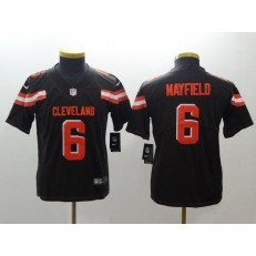Youth Nike Cleveland Browns #6 Baker Mayfield Brown Vapor Untouchable Player Limited NFL Jersey