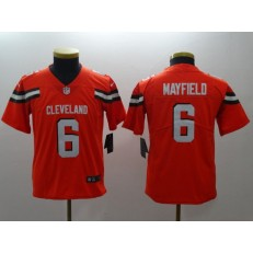 Youth Nike Cleveland Browns #6 Baker Mayfield Orange Vapor Untouchable Player Limited NFL Jersey
