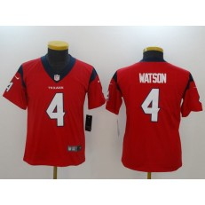 Youth Nike Houston Texans #4 Deshaun Watson Red Vapor Untouchable Player Limited NFL Jersey