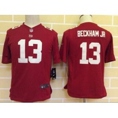 Youth Nike New York Giants #13 Beckham Jr Red Game NFL Jersey