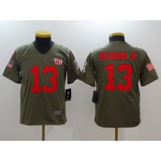Youth Nike New York Giants #13 Odell Beckham Jr. Olive Salute To Service Limited NFL Jersey