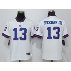 Women Nike New York Giants #13 Odell Beckham Jr White Color Rush Limited NFL Jersey