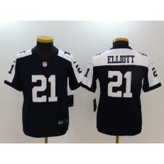 Youth Nike Dallas Cowboys #21 Ezekiel Elliott Navy Throwback Vapor Untouchable Player Limited NFL Jersey