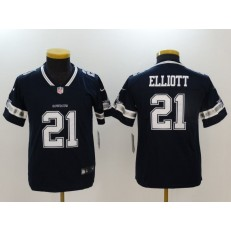 Youth Nike Dallas Cowboys #21 Ezekiel Elliott Navy Vapor Untouchable Player Limited NFL Jersey