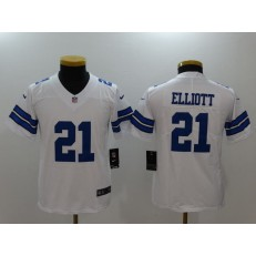 Youth Nike Dallas Cowboys #21 Ezekiel Elliott White Vapor Untouchable Player Limited NFL Jersey