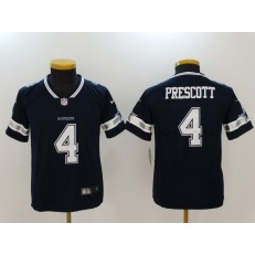 Youth Nike Dallas Cowboys #4 Dak Prescott Navy Vapor Untouchable Limited NFL Jersey