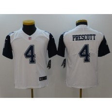 Youth Nike Dallas Cowboys #4 Dak Prescott White Color Rush Limited NFL Jersey
