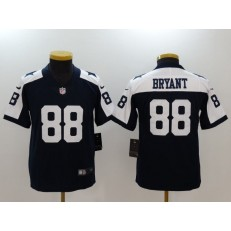 Youth Nike Dallas Cowboys #88 Dez Bryant Navy Throwback Vapor Untouchable Player Limited NFL Jersey