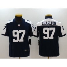 Youth Nike Dallas Cowboys #97 Taco Charlton Navy Throwback Vapor Untouchable Player Limited Jersey